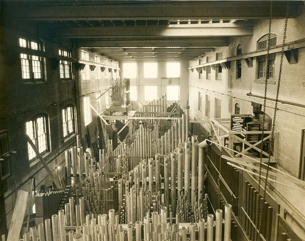 The Pipe Organ Factory in Garwood, NJ, 1929
