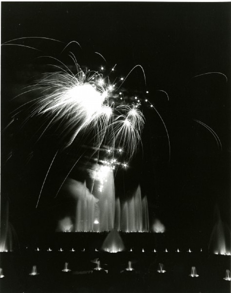 Longwood's first Fireworks & Fountain Show, 1980